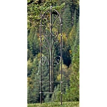 H Potter Italian Iron Garden Trellis   Durable, Elegant Metal Trellis Lawn  Decor With Powder