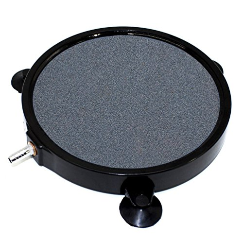 Micropore Diffuser - 8 Inch Air Stone Disc w/Shell and Suction Cups Micropore Mineral Bubble Diffuser for Hydroponics Aquarium Tank Pump