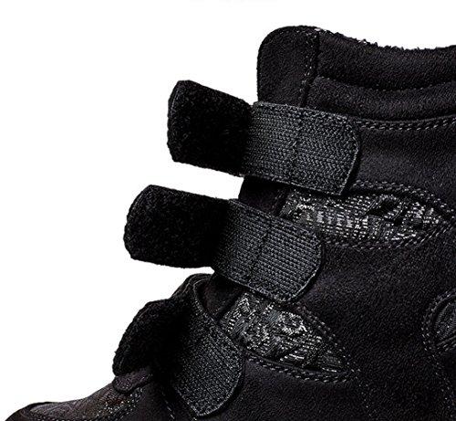 U-mac High-end Wedge Sneakers Voor Dames - Anti-slip Rubberen Zool Verborgen Hak Ronde Neus Plateau Casual Schoenen Goud Zwart