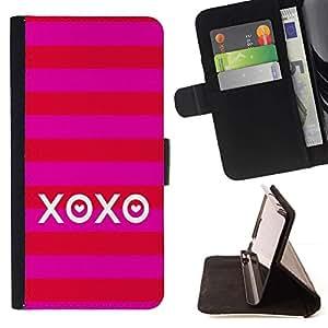 Momo Phone Case / Flip Funda de Cuero Case Cover - Amor Besos verano raya rojo - Samsung Galaxy S6 Active G890A