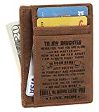 Minimalist Wallets Gift for son daughter from Mom Slim Wallet RFID Front Pocket Wallet