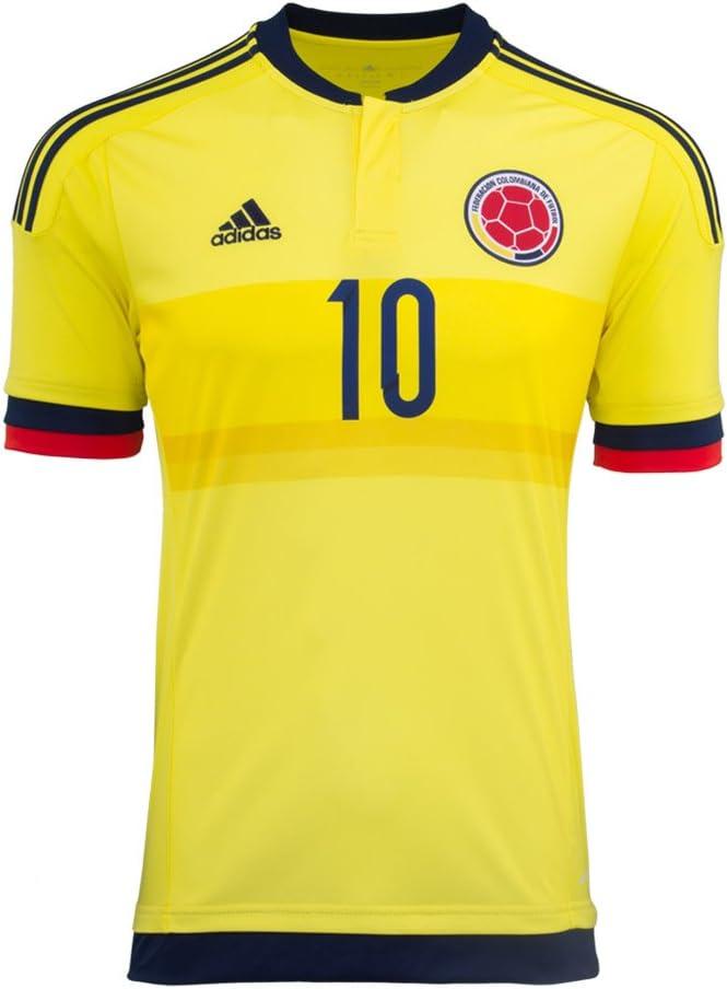 adidas James #10 Camiseta 1ra Colombia De Fútbol Los Hombres 2015 (M): Amazon.es: Deportes y aire libre