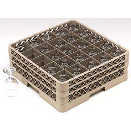 "Vollrath TR6BB Glass Rack - 25 Square Compartments, 7-1/8""H"