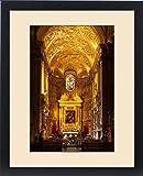 Framed Print of Interior of Chiesa Santa Maria dell Anima near Piazza Navona, Rome Lazio Italy
