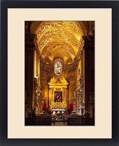 Framed Print of Interior of Chiesa Santa Maria dell Anima near Piazza Navona, Rome Lazio Italy by Fine Art Storehouse