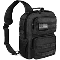 Noola Tactical Military Rover Shoulder Sling Backpack (Black)
