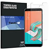 Asus ZenFone 5 Lite ZC600KL Screen Protector, TopACE 9H Hardness [Case Friendly][Anti-Scratch][Bubble Free] Tempered Glass for Asus ZenFone 5 Lite ZC600KL/5Q (2 Pack)