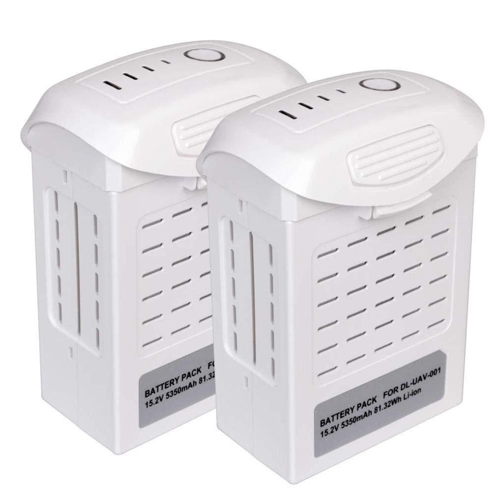 2PCS Batteria Ricaricabile Intelligente, Batteria Lipo da 15.2V 5350mAh, per DJI Phantom 4, Fornire con 18-30 Minuti di Volo