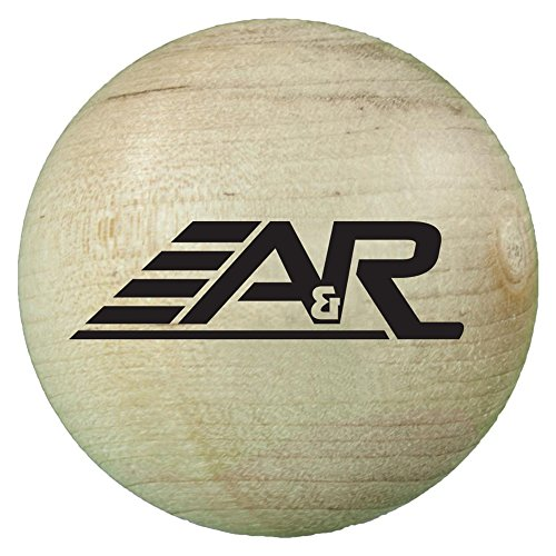 A&R Sports Wood Stick Handling Ball (Hockey Wood Ice Stick)