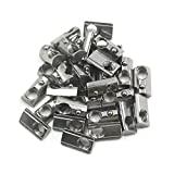 Ideaker 30pcs Silver European Standard 30 Series Aluminum Slot Carbon Steel Half Round Roll In Spring T Slot Nut with M8 Thread(M8)