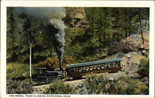 Cog Wheel Train Climbing Pikes Peak Pikes Peak, Colorado Original Vintage (Cog Wheel Train)