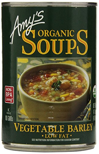 Amy's Organic Soups, Low Fat Vegetable Barley, 14.1 Ounce (Pack of 6) ()