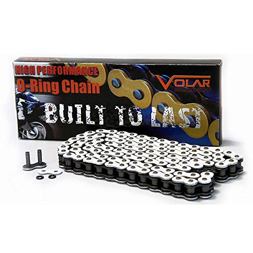 530 x 150 Links O-Ring Motorcycle Chain for Extended Swingarm - White Volar Motorsport Inc