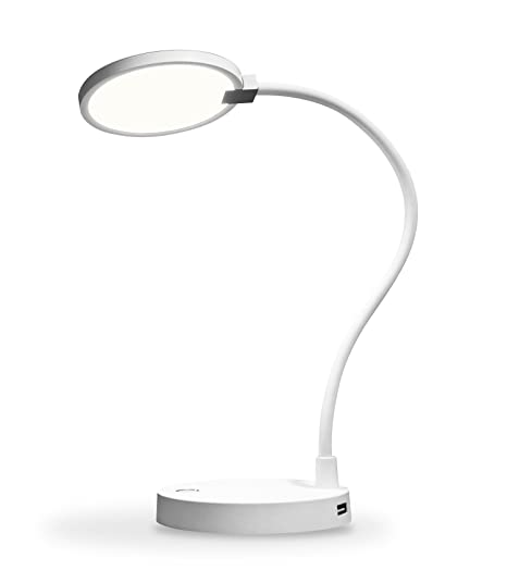 Amazon eeco flexlight dimmable led desk lamp with usb charging eeco flexlight dimmable led desk lamp with usb charging ports flexible gooseneck and rechargeable usb aloadofball Images