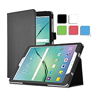 Samsung Galaxy Tab S Pro 12 case, KuGi Multi-Angle Stand Slim-Book PU Leather Cover Case for Samsung Galaxy Tab S Pro 12 tablet (Black)