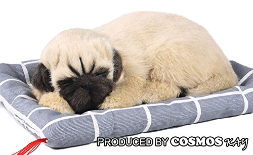Lifelike Stuffed Animal, Sleeping Puppy Kitty plush with Sound, Function of Air purification, Dehumidification, Deodorization Sleeping dog Sleeping cat (Pug)