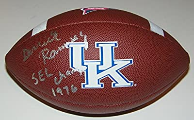 Derrick Ramsey Signed Autographed Auto UK Kentucky Widlcats Logo Football w/1976 SEC Champs