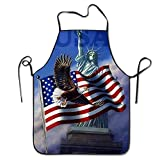 startoronto American Flag Eagle Aprons For Women/men Lightweight Grilling Waitress Overhand Funny Chef Apron