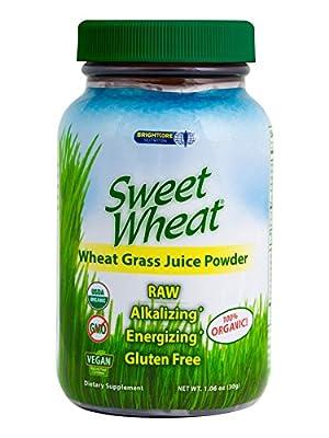 Ascend Sweet Wheat Organic Wheat Grass Juice Powder, 180 caps