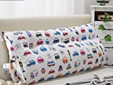 Bedside Cushions Bed Head Cotton Canvas Pattern Cushions (multi-color / Multi-size Optional) ( Color : B , Size : 15050cm )