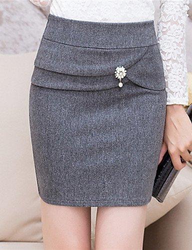GSP-Damen Röcke - Bodycon Übers Knie Woll-Mischung Mikro-elastisch