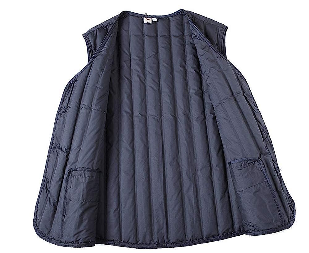 TOP Fighting Mens Down Vest Packable Winter Zip up Lightweight Puffer Jacket