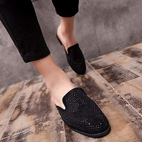 サボサンダル メンズ スタイリッシュ ビジネス スリッパ オフィス サンダル ビジネスシューズ スリッポン 脱ぎ履き楽々 通気性 蒸れない 革靴 さっと履ける かかとなし スリッパ 男性 紳士 軽い ゆったり 大人系