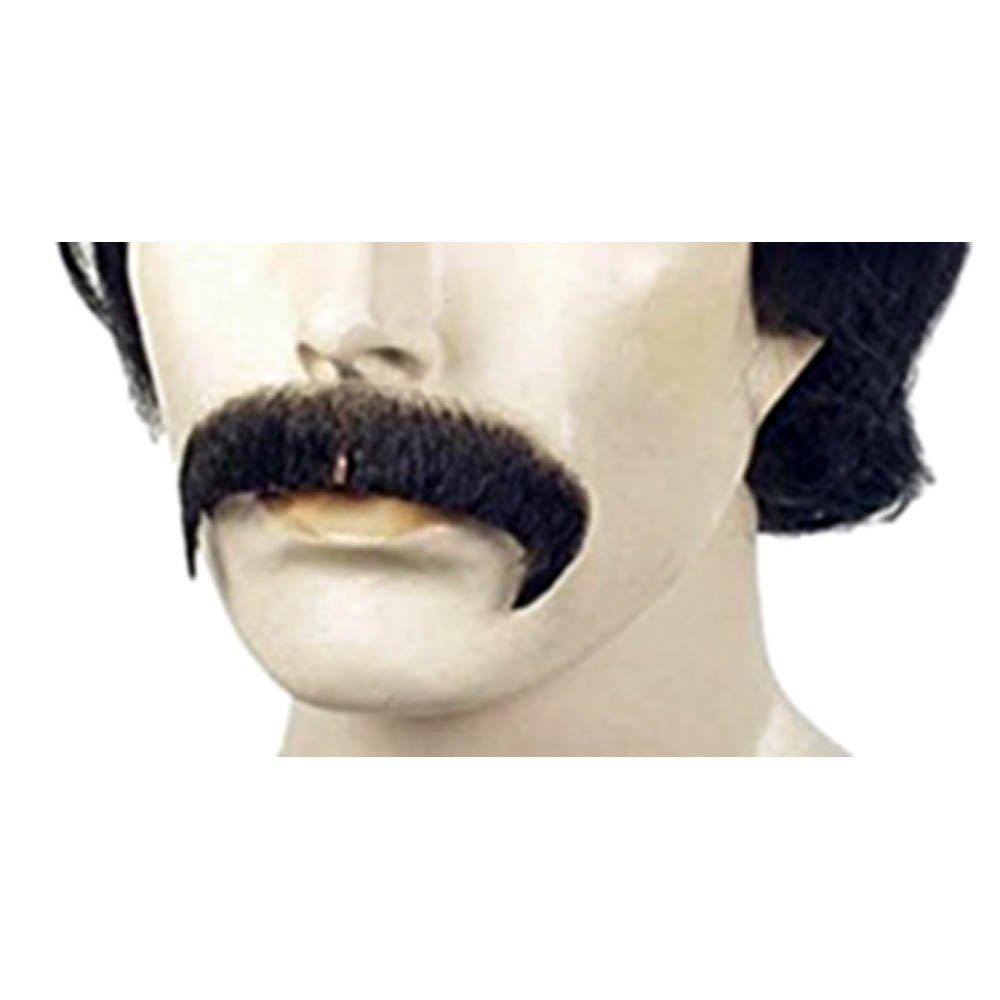 City Costume Wigs Black Sonny Bono Villain Human Hair Mustache
