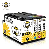 Ink Cartridges 932XL CMYBabee Replacement for HP 933XL 932 XL 933 XL New Updated Chips Compatible with HP Officejet 6700 6600 6100 7110 7610 7612 4-Pack(Black*1, Cyan*1, Yellow*1, Magenta*1)