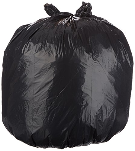 AmazonBasics 44 Gallon Large Trash Can Liner, Lawn and Leaf, 1.6 mil, Black, 150-Count