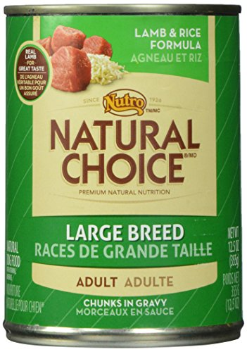 NUTRO 791436 12-Pack Natural Choice Large Breed Lamb/Rice Canned Food for Dogs, 12.5-Ounce