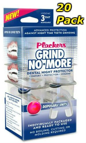 Plackers Mouth Guard Grind No More Dental Night Protector (20 Pack) by Plackers