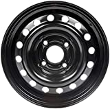 Dorman 939-134 Black Steel Road Wheel 15x6''/4x114.3mm with 43mm Offset
