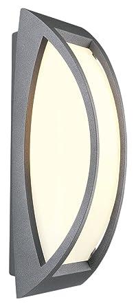 SLV Wandlampe MERIDIAN | Für Die Effektvolle Außenbeleuchtung Von Wänden  Und Hauseingang | LED Strahler,