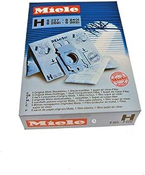 A polvo de 5 bolsas para aspiradora miele s227 tipo h: Amazon.es: Hogar