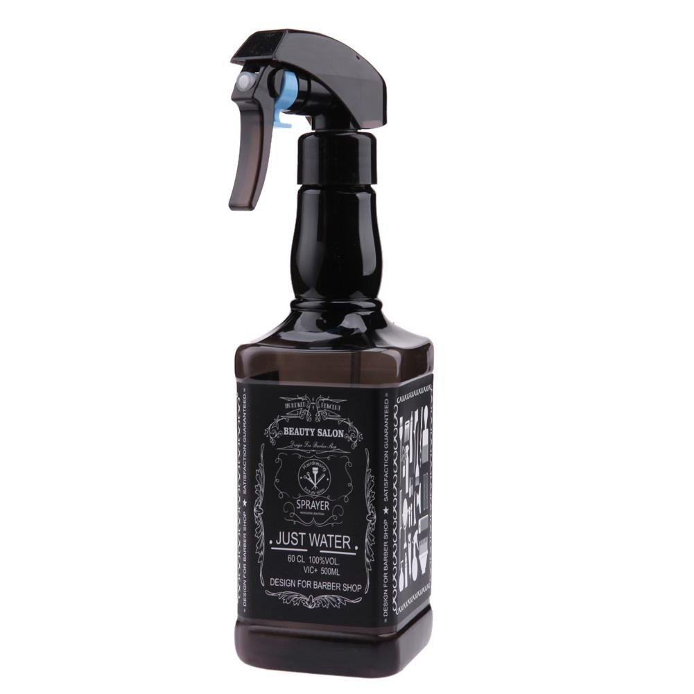 Demiawaking 500ml Bottigliette Spray Vuote per Capelli Spruzzino Nebulizzatore Parrucchiere Bottiglie Riutilizzabile per Parrucchiere Barbiere Strumenti Spray per lo Styling (Nero)