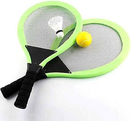 Amazon.com: NUOLUX Badminton Tennis Racket Set with Tennis Ball for Kids  (Random Color): Toys & Games