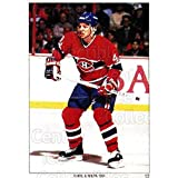 Brent Gilchrist Hockey Card 1991 Montreal Canadiens Panini Team Stickers #12 Brent Gilchrist