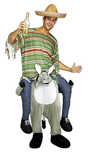 Fun World Men's Carry Me Donkey Adult Cstm, Multi, -