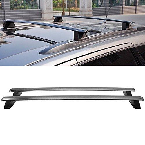 Cross Bar Fits 2011-2018 Grand Cherokee | Black Top Roof Rack Luggage Carrier Key Lock by IKON MOTORSPORTS | 2012 2013 2014 2015 2016 2017