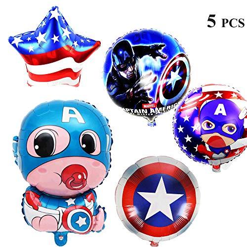 - Superhero Birthday Party Mylar Foil Balloons -Round/Shield/Star/baby hero balloons -Superhero Theme Birthday Party Decorations