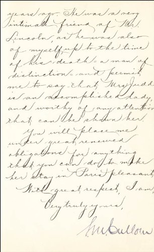 - Governor Shelby M. Cullom - Manuscript Letter Signed 11/03/1891