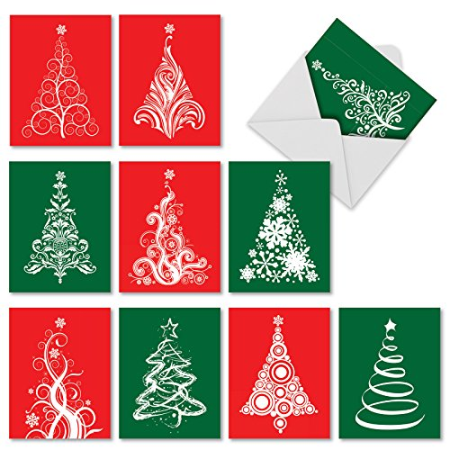 Fanciful Gifts - 10 Assorted 'Fanciful Firs' Blank All