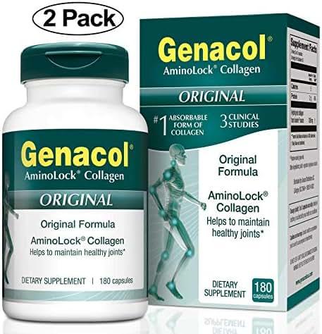 GENACOL Joint Supplements for Men & Women (360 Capsules) | Super Absorbing Amino-Lock Hydrolyzed Collagen Peptides Pills | Colageno Hidrolizado Protein Vitamins | Grass Fed Bovine Keto Diet Friendly