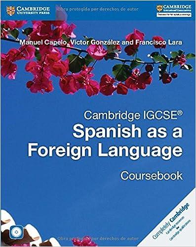 Cambridge IGCSE® Spanish as a Foreign Language Coursebook with Audio CD (Cambridge International IGCSE)