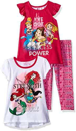 Disney Girls' 3 Piece Princess Group Printed Legging Set