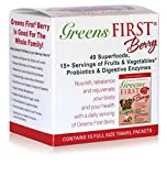 Greens First Berry – 15 Count Travel Packets – 49 Superfoods, 15+ Servings of Fruits & Vegetables, Probiotics & Digestive Enzymes For Sale