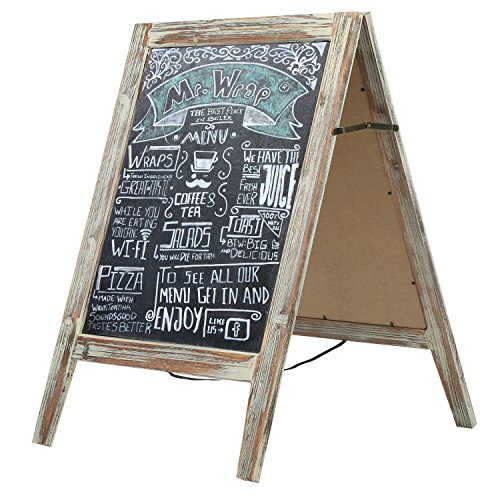 Country Chalkboard Double Sided Sidewalk Sandwich