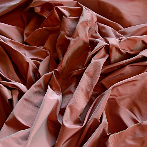 "Mauve & Red Iridescent Silk Taffeta, 100% Silk Fabric, By The Yard, 54"" Wide"