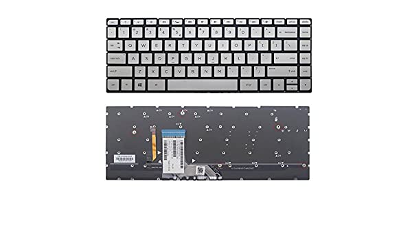 New US Silver Backlit English Keyboard Without Frame Replacement for HP HPM15G83U4J920 841266-B31 HPM15G83USJ920 841266-001 Light Backlight